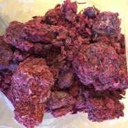 Vaccinium Oxycoccos press cake. European cranberry frozen pomace